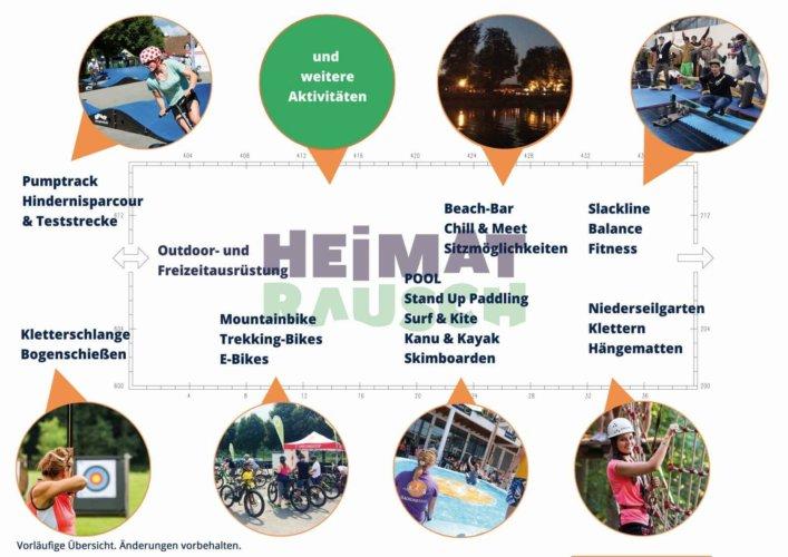 Messeplan - HEIMATRAUSCH Outdoorfestival Altmühlfranken 2017