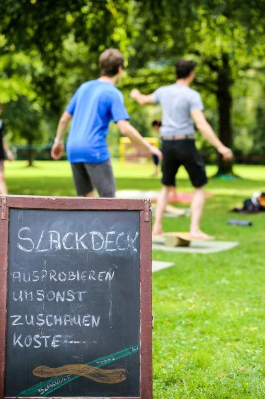 Slackline Balanace - HEIMATRAUSCH Outdoorfestival 2016 Pappenheim Naturpark Altmühltal